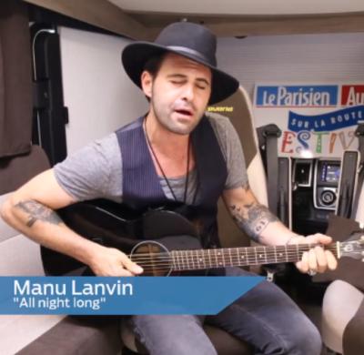 Manu Lanvin en concert en camping-car Bavaria